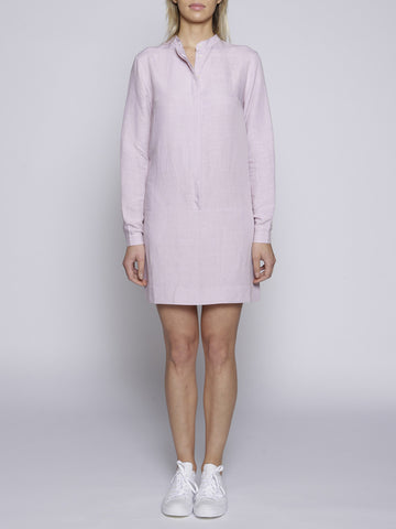 Uzma Bozai - Crepe de Chine Shirt Dress - Pink
