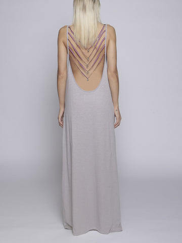 Pitusa - Evil Eye Backless Dress - Grey