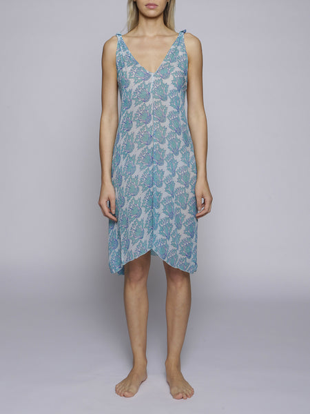 Beach Candy - Rosie Silk Blue Dress