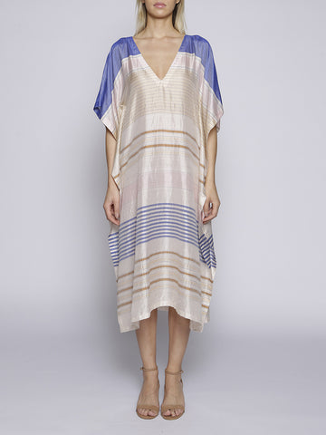 A Peace Treaty - Frafra Kaftan - Blue