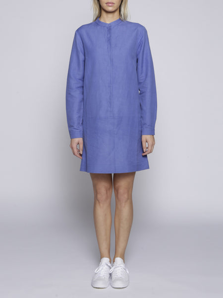 Uzma Bozai Crepe de Chine Shirt Dress - Blue