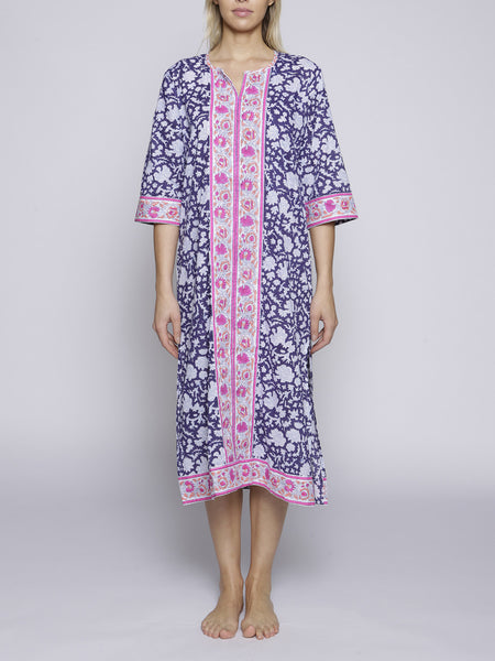 SZ Blockprint - Kurta - Pink and Blue