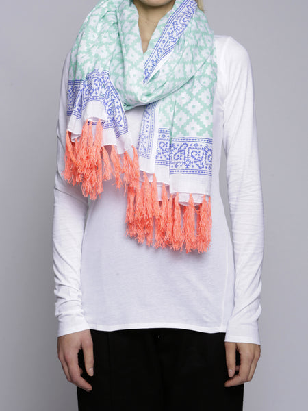 SZ Blockprint - Scarf - Green