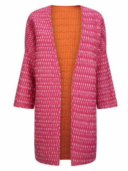 Uzma Bozai - Cotton Winni Coat Reversible - Pink and Orange