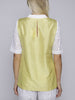 Uzma Bozai - Silk Back Shirt - White and Yellow