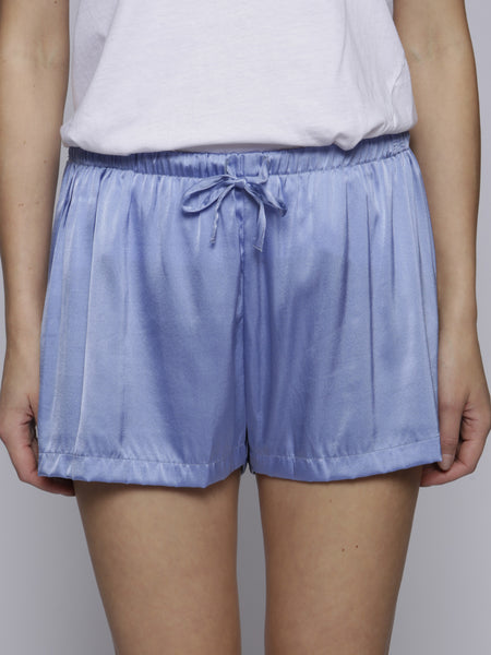 Cloe Cassandro - Silk Shorts - Blue