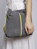 Sahel - Kadija Suede Bag - Grey