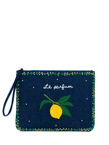 Pink City - Citron Clutch - Navy