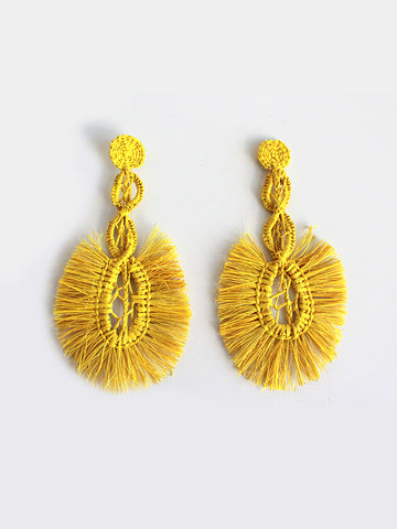 Shicato - Fan Earrings - Yellow