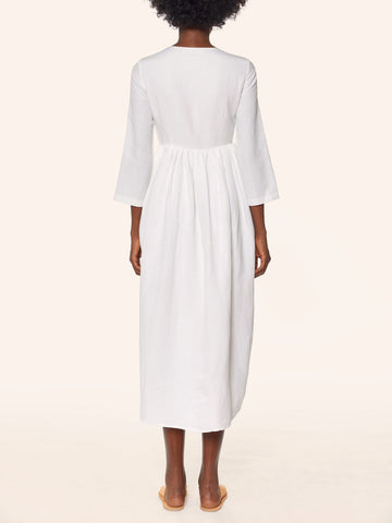 Mara Hoffman - Embroidered Midi Dress - White