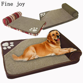 Dog Bed With Pillow - For Head and Neck Support - Any Size Dog