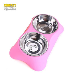 Dual Food Water Bowl Tray