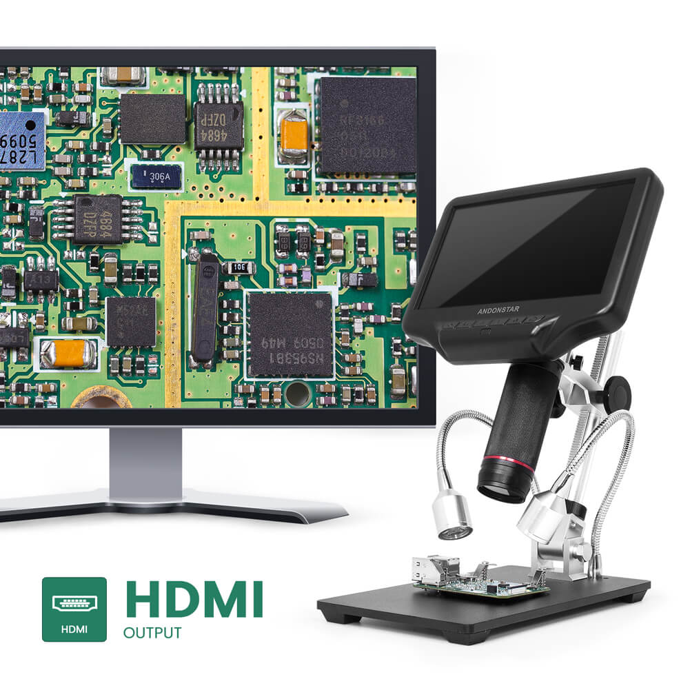 Use Andonstar Digial Microscope for PCB Inspection and Analysis
