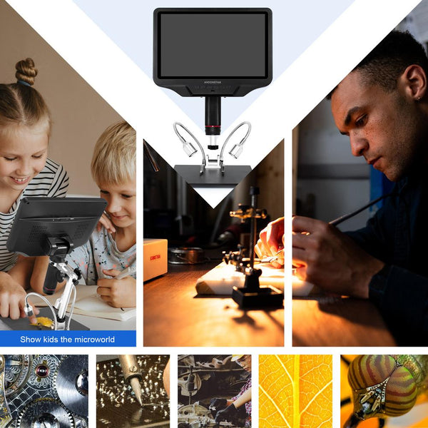 AD409: 2020 Latest HDMI WIFI Digital Microscope With 10.1-inch Large Screen