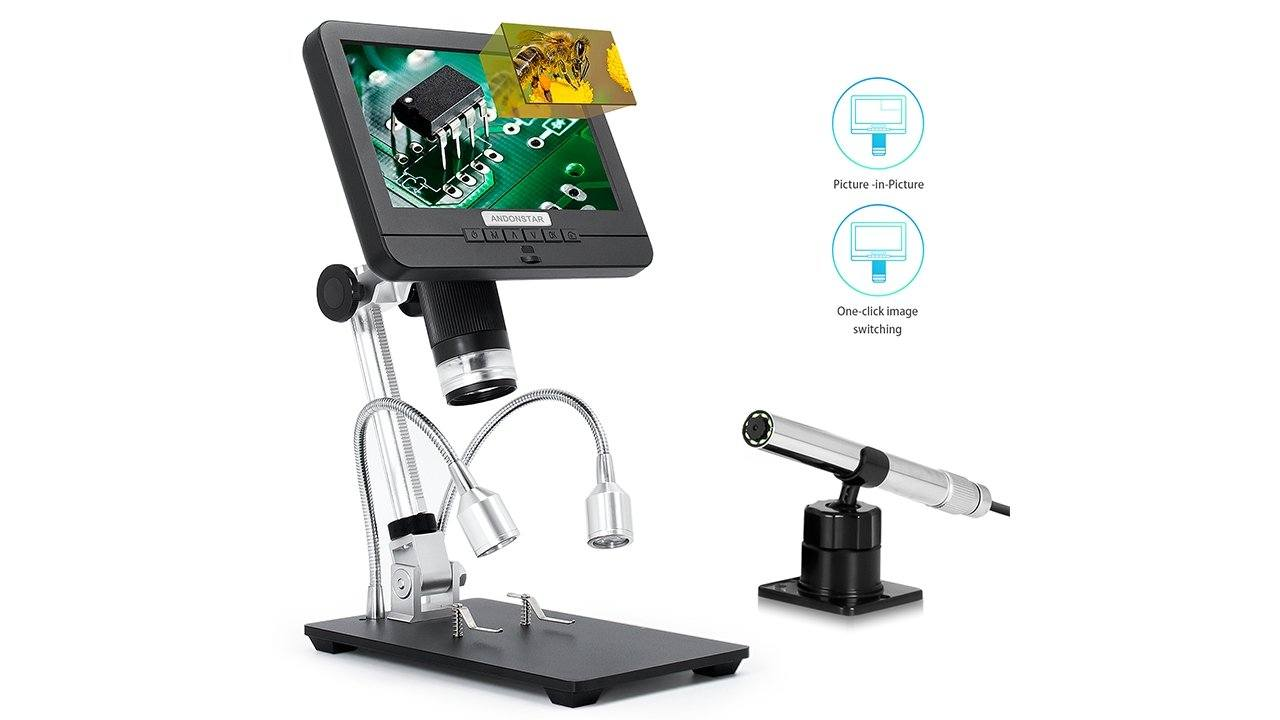 Andonstar AD206S Digital Microscope With Monitor And Endoscope