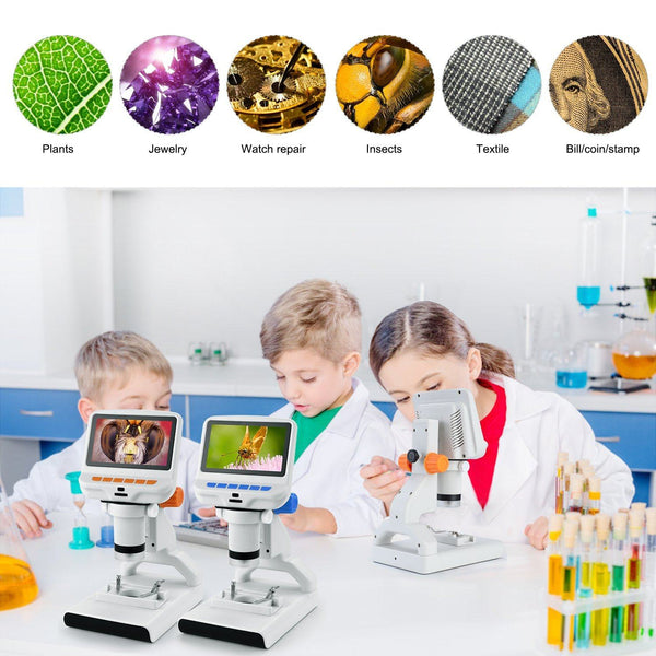 Andonstar AD102 Kids' USB Digital Microscope With Plastic Stand for Plant Observation
