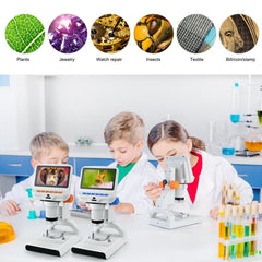 Andonstar AD102 Children Portable USB Digital Microscope With Plastic Stand for Plant Slides Observation - Andonstar