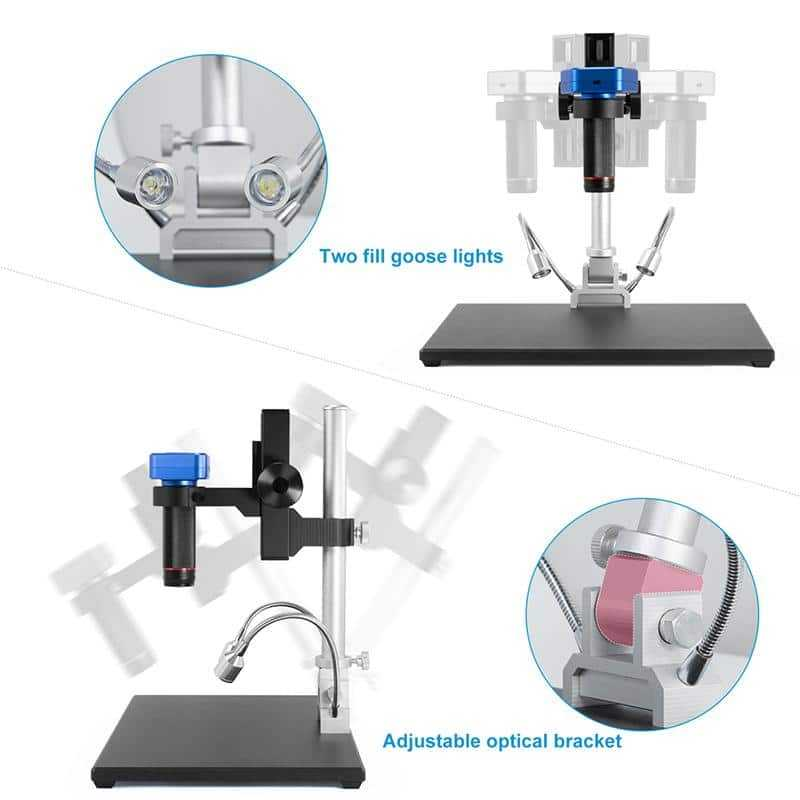 Adjustable Stand of Andonstar AD1605 4K Digital Microscope with HDMI Output
