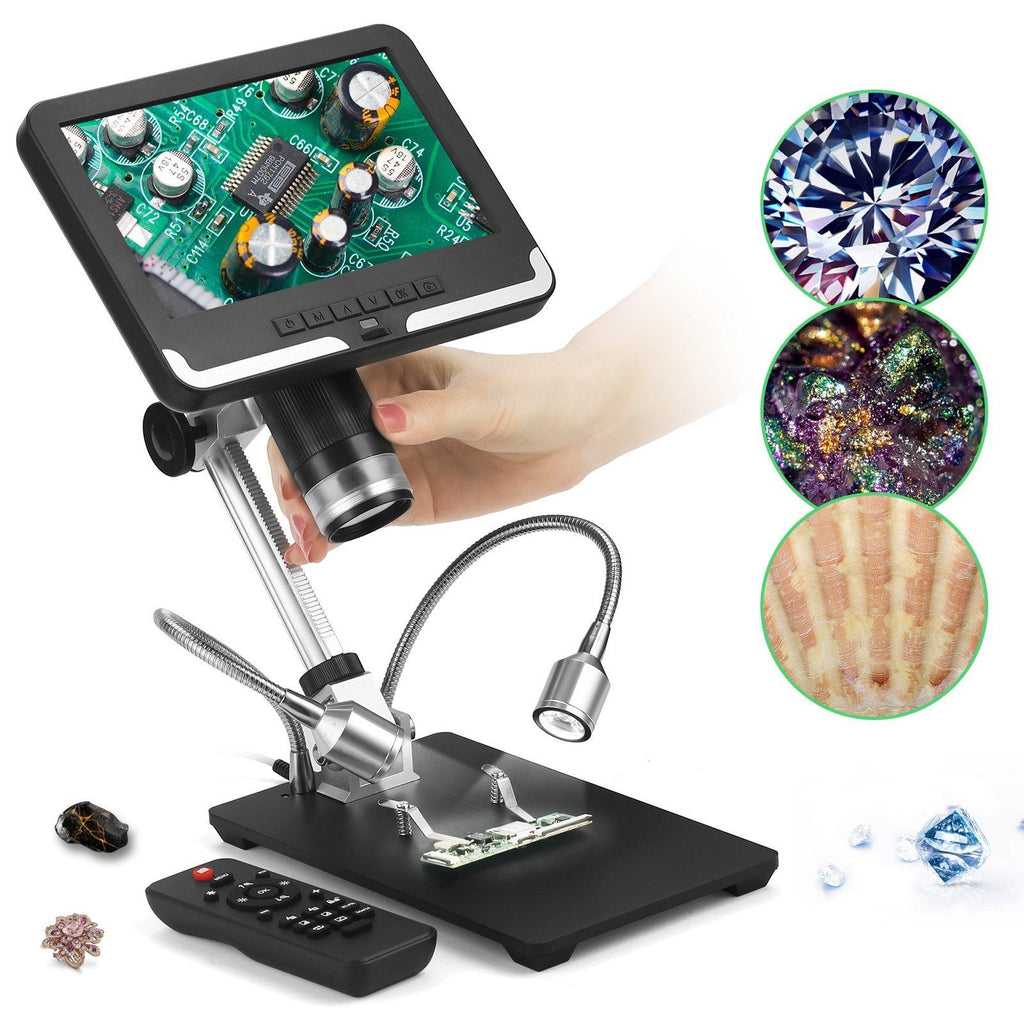 Andonstar AD206 HD Digital Microscope with 7'' FHD LCD Screen 3D Effect CPU BGA Soldering Tool for PCB Check and Watch/Phone Repair