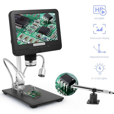 Andonstar AD206S Dual Lens Digital Microscope with Endoscope Digital Microscope Andonstar Microscope