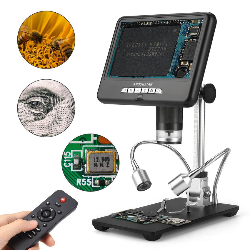 Andonstar AD207 7-inch LCD Screen 2MP 3D Digital Microscope for PCB Soldering - Andonstar