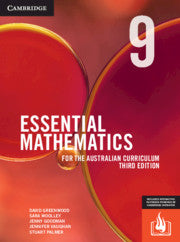 Essential Mathematics for the Australian Curriculum Year 9 3rd Ed 9781108772884
