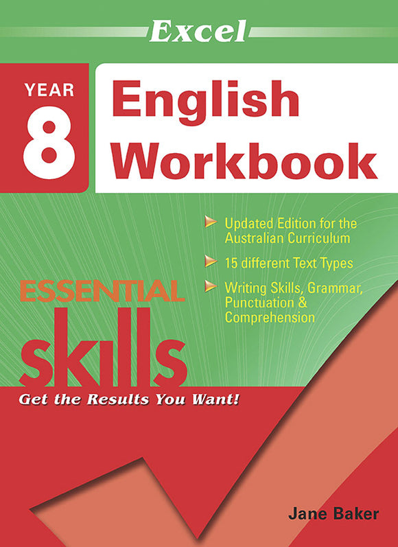 Excel Essential Skills: English Workbook Year 8 9781740200370