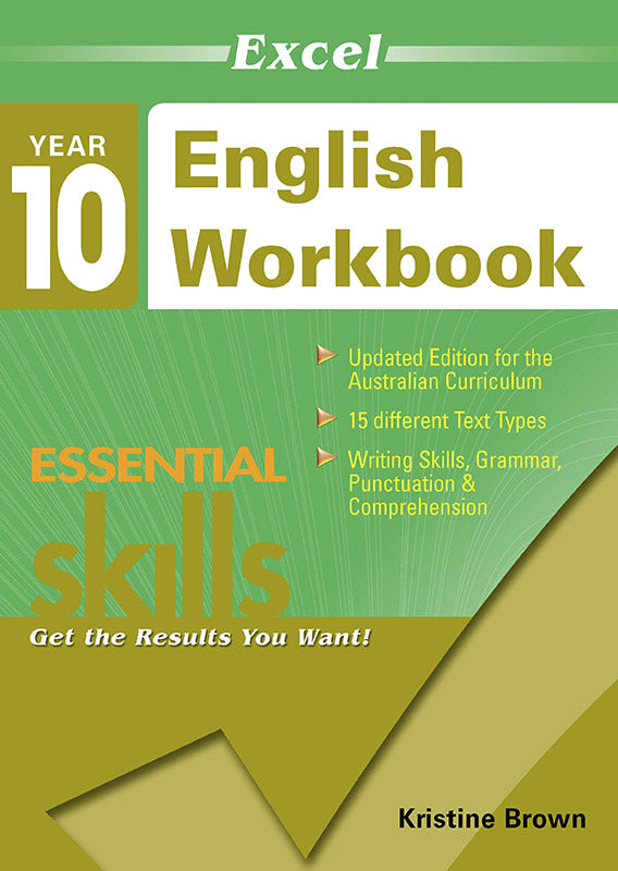 Excel Essential Skills: English Workbook Year 10 9781740200394
