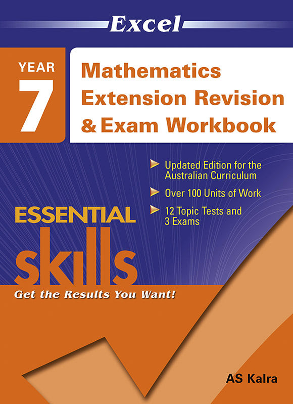 Excel Essential Skills: Mathematics Extension Revision & Exam Workbook Year 7 9781740203159