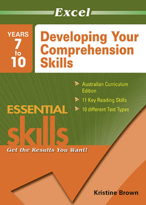 Excel Essential Skills Workbook: Developing Your Comprehension Skills Years 7-10 9781741250022