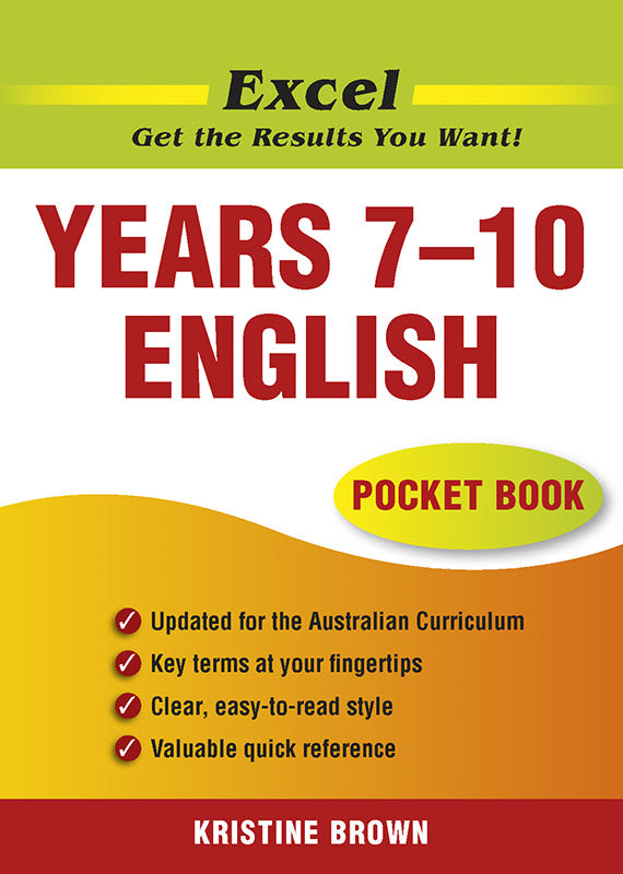 Excel English Pocket Book Years 7-10 9781741250091