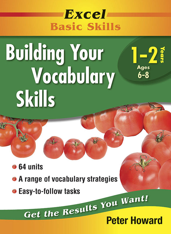 Excel Basic Skills Workbooks: Building Your Vocabulary Skills Years 1-2 9781741251623