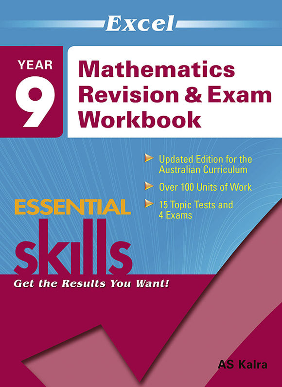 Excel Essential Skills: Mathematics Revision & Exam Workbook Year 9 9781741252712