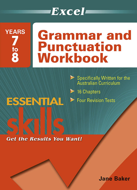 Excel Essential Skills: Grammar and Punctuation Workbook Years 7-8 9781741254112