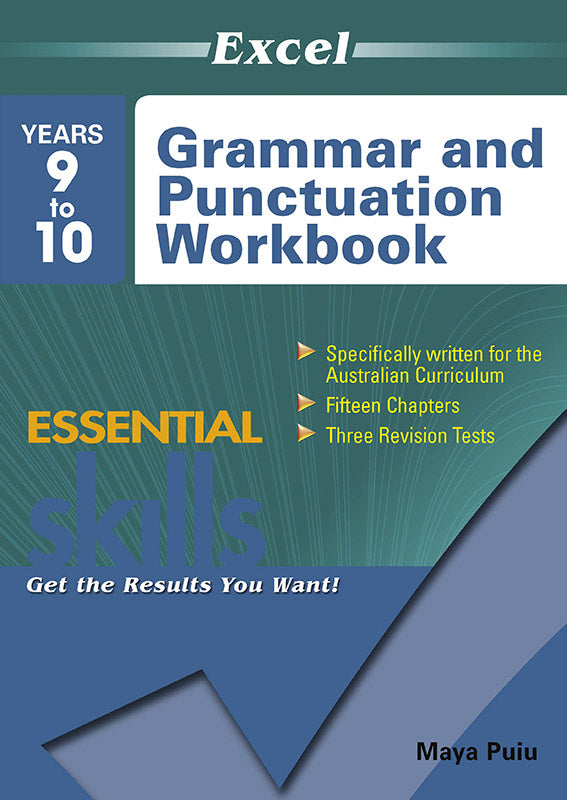 Excel Essential Skills: Grammar and Punctuation Workbook Years 9-10 9781741254129