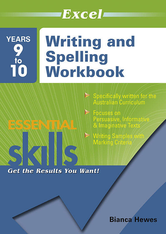 Excel Essential Skills: Writing and Spelling Workbook Years 9-10 9781741254150