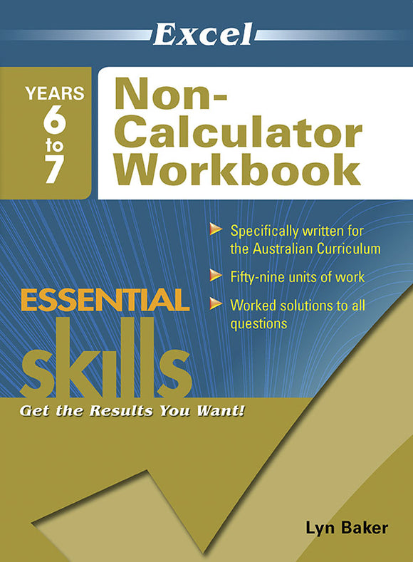 Excel Essential Skills: Non-Calculator Workbook Years 6-7 9781741255911