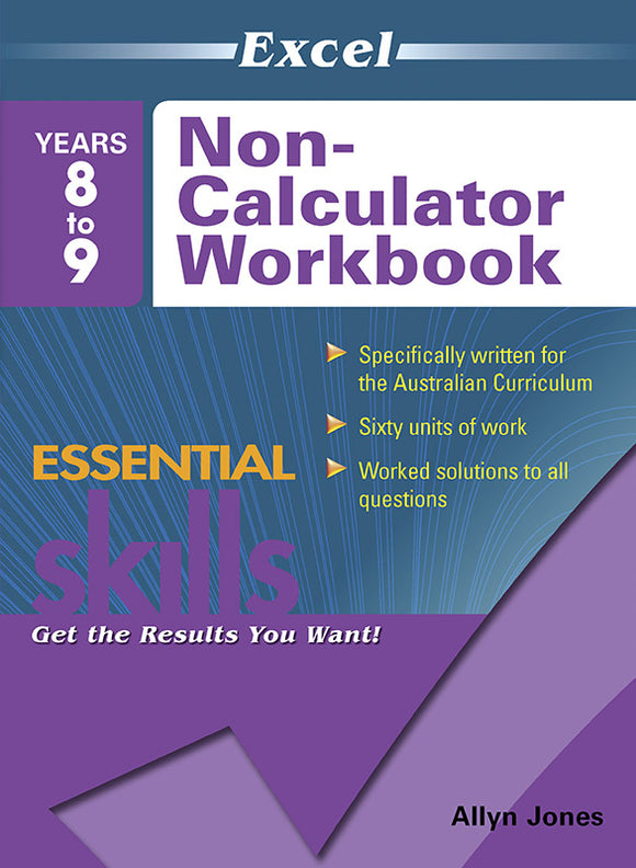 Excel Essential Skills: Non-Calculator Workbook Years 8-9 9781741255935