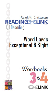 Decoding Word Cards Exceptional and Sight Workbooks 3-4 9781741620351