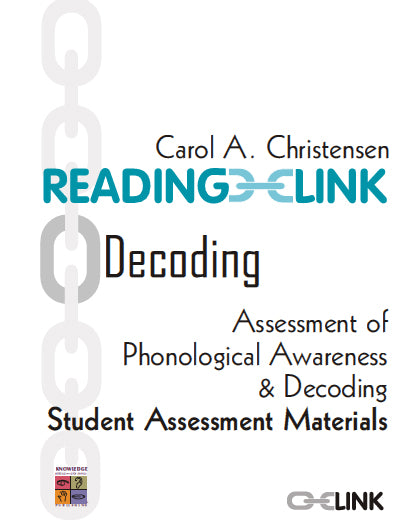Decoding Assessment of Phonological Awareness and Decoding Student Material 9781741620429