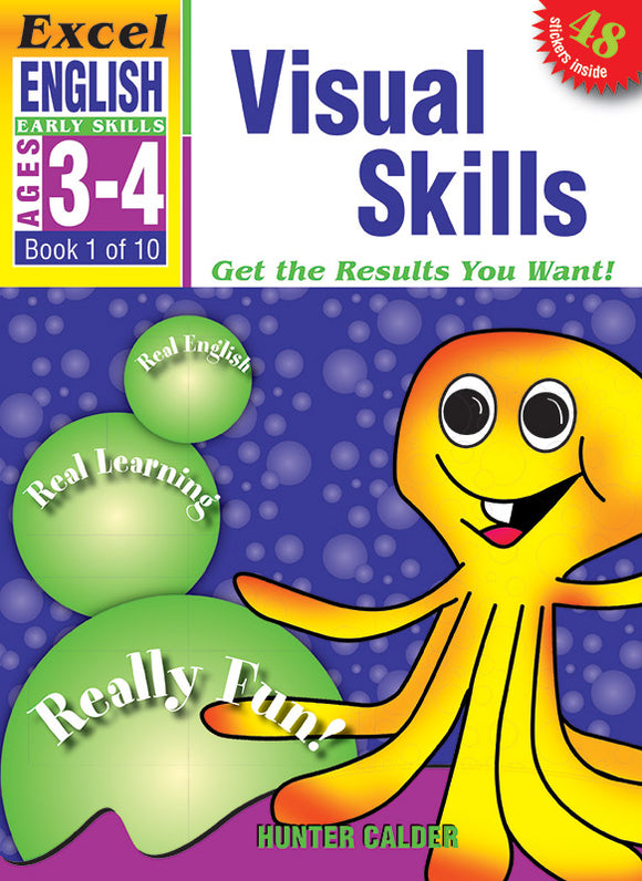 Excel Early Skills English Book 1: Visual Skills Ages 3-4 9781877085789