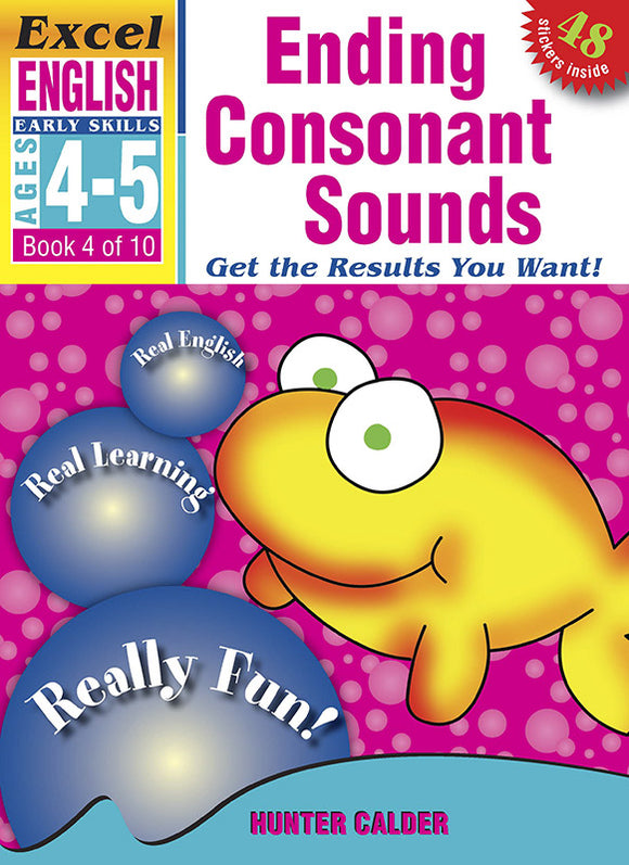 Excel Early Skills English Book 4: Ending Consonant Sounds Ages 4-5 9781877085819