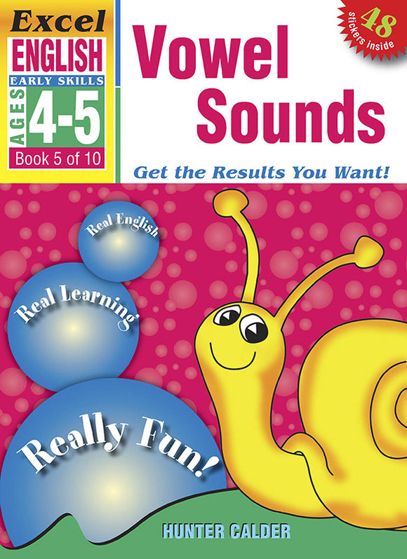 Excel Early Skills English Book 5: Vowel Sounds Ages 4-5 9781877085826