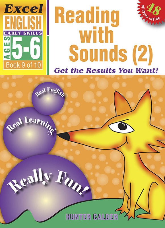 Excel Early Skills English Book 9: Reading with Sounds 2 Ages 5-6 9781877085864