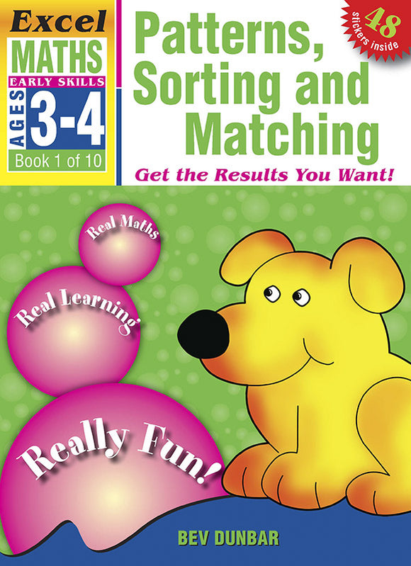 Excel Early Skills Maths Book 1: Patterns, Sorting and Matching Ages 3-4 9781877085888