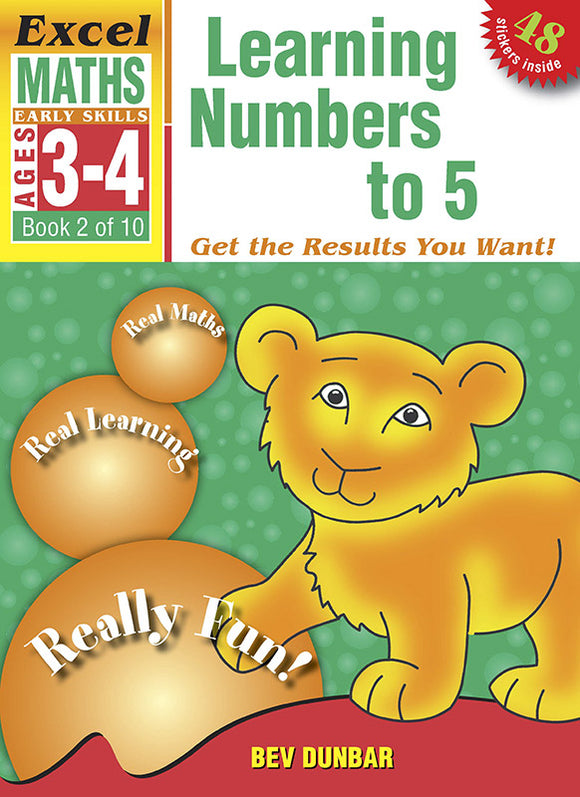 Excel Early Skills Maths Book 2: Learning Numbers to 5 Ages 3-4 9781877085895