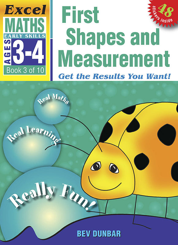 Excel Early Skills Maths Book 3: First Shapes and Measurement Ages 3-4 9781877085901