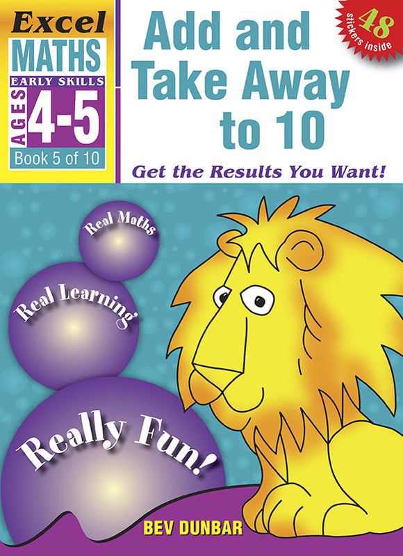Excel Early Skills Maths Book 5: Add and Take Away to 10 Ages 4-5 9781877085925