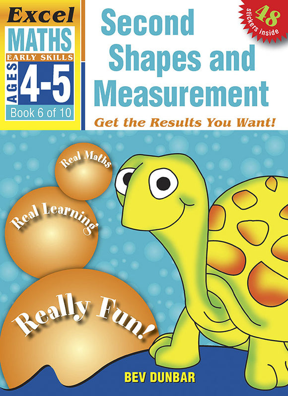Excel Early Skills Maths Book 6: Second Shapes and Measurement Ages 4-5 9781877085932