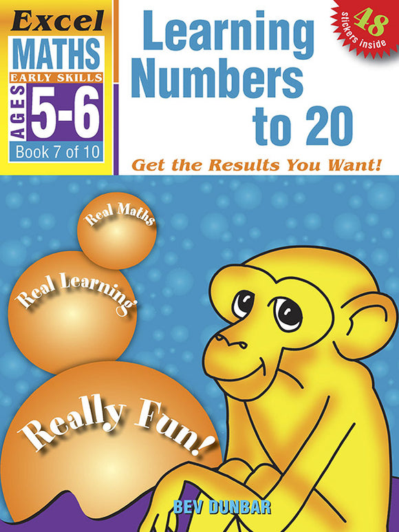 Excel Early Skills Maths Book 7: Learning Numbers to 20 Ages 5-6 9781877085949